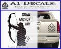 Archery Decal Sticker Draw Anchor Aim Carbon FIber Black Vinyl 120x97
