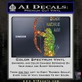 Archery Decal Sticker Draw Anchor Aim Glitter Sparkle 120x120