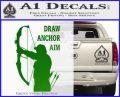 Archery Decal Sticker Draw Anchor Aim Green Vinyl Logo 120x97