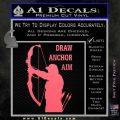 Archery Decal Sticker Draw Anchor Aim Pink Emblem 120x120