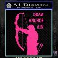 Archery Decal Sticker Draw Anchor Aim Pink Hot Vinyl 120x120