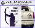 Archery Decal Sticker Draw Anchor Aim PurpleEmblem Logo 120x97
