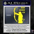 Archery Decal Sticker Draw Anchor Aim Yellow Laptop 120x120