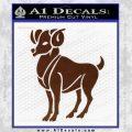 Aries Ram Zodiac Decal Sticker BROWN Vinyl 120x120
