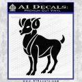 Aries Ram Zodiac Decal Sticker Black Vinyl 120x120