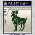 Aries Ram Zodiac Decal Sticker Dark Green Vinyl 120x120