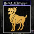 Aries Ram Zodiac Decal Sticker Gold Vinyl 120x120