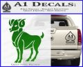 Aries Ram Zodiac Decal Sticker Green Vinyl Logo 120x97