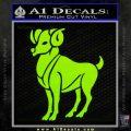 Aries Ram Zodiac Decal Sticker Lime Green Vinyl 120x120