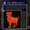 Aries Ram Zodiac Decal Sticker Orange Emblem 120x120