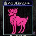 Aries Ram Zodiac Decal Sticker Pink Hot Vinyl 120x120