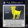 Aries Ram Zodiac Decal Sticker Yellow Laptop 120x120