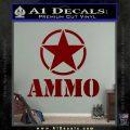 Army Ammo Star Full Decal Sticker 16 120x120