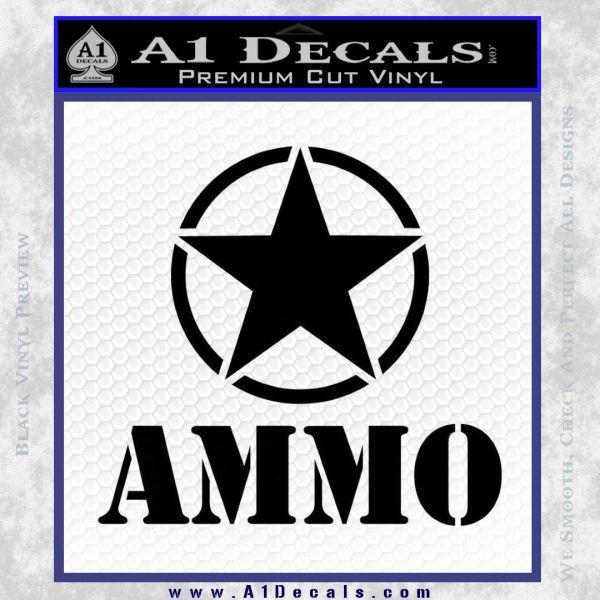 Army Ammo Star Full Decal Sticker 21