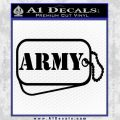 Army Dog Tag Decal Sticker Black Vinyl 120x120