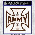 Army Iron Cross Decal Sticker BROWN Vinyl 120x120