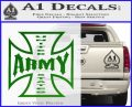 Army Iron Cross Decal Sticker Green Vinyl Logo 120x97