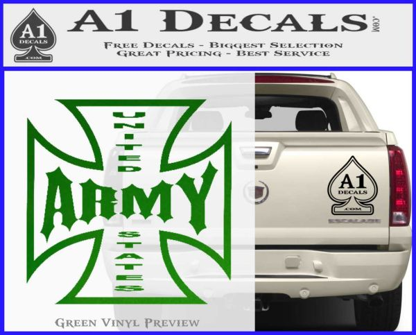 Army Iron Cross Decal Sticker » A1 Decals