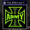 Army Iron Cross Decal Sticker Lime Green Vinyl 120x120