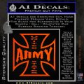 Army Iron Cross Decal Sticker Orange Emblem 120x120