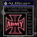 Army Iron Cross Decal Sticker Pink Emblem 120x120
