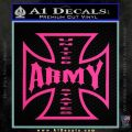 Army Iron Cross Decal Sticker Pink Hot Vinyl 120x120