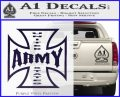 Army Iron Cross Decal Sticker PurpleEmblem Logo 120x97