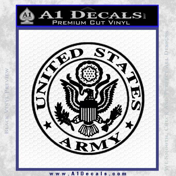Army Seal Emblem Eagle Decal Sticker 187 A1 Decals