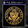 Army Seal Emblem Eagle Decal Sticker Gold Vinyl 120x120