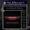 Aston Martin Logo Decal Sticker Pink Emblem 120x120