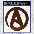 Atheist A Decal Sticker BROWN Vinyl 120x120