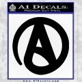 Atheist A Decal Sticker Black Vinyl 120x120