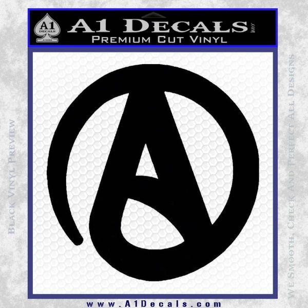 Atheist A Decal Sticker Black Vinyl