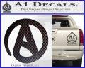 Atheist A Decal Sticker Carbon FIber Black Vinyl 120x97
