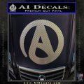Atheist A Decal Sticker Carbon FIber Chrome Vinyl 120x120