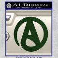 Atheist A Decal Sticker Dark Green Vinyl 120x120