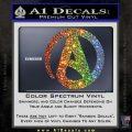 Atheist A Decal Sticker Glitter Sparkle 120x120