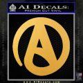 Atheist A Decal Sticker Gold Vinyl 120x120