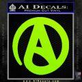 Atheist A Decal Sticker Lime Green Vinyl 120x120