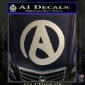 Atheist A Decal Sticker Metallic Silver Emblem 120x120