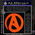 Atheist A Decal Sticker Orange Emblem 120x120