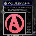 Atheist A Decal Sticker Pink Emblem 120x120