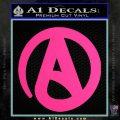 Atheist A Decal Sticker Pink Hot Vinyl 120x120