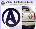 Atheist A Decal Sticker PurpleEmblem Logo 120x97