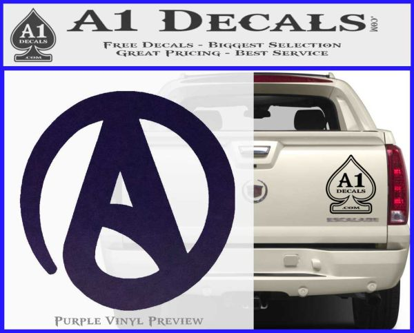 Atheist A Decal Sticker A1 Decals