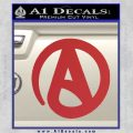 Atheist A Decal Sticker Red 120x120