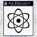 Atomic Cloud Atom Decal Sticker D1 Black Vinyl 120x120