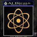 Atomic Cloud Atom Decal Sticker D1 Gold Vinyl 120x120