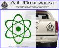 Atomic Cloud Atom Decal Sticker D1 Green Vinyl Logo 120x97