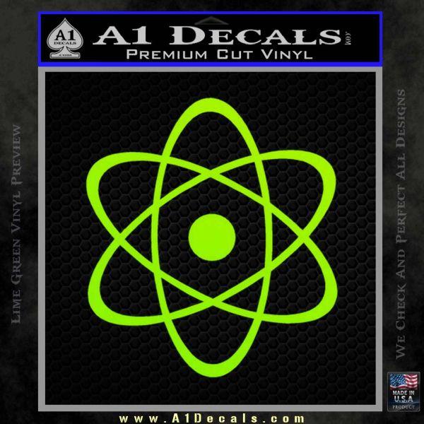 Atomic Cloud Atom Decal Sticker D1 Lime Green Vinyl